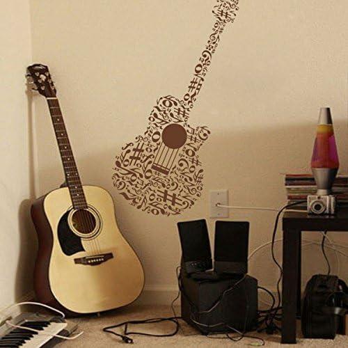WallsUp Música Guitarra Mural de Pared decoración Vinilo de Notas ...