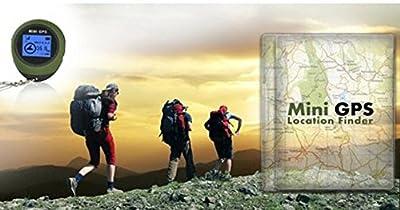 Winterworm® Outdoor Mini Handheld GPS Navigation Location Finder Dot Matrix Display For Biking Hiking Wild Exploration