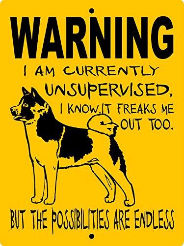 - Dozili Metal Sign Akita Dog Sign Aluminum Guard Dog Sign Akita Dog Decal Dog Sign Wusakita