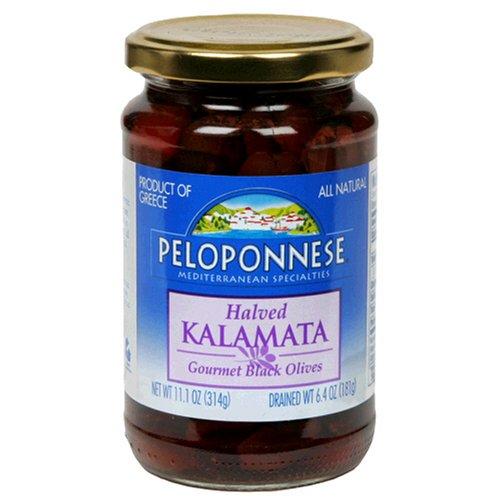 Peloponnese Kalamata Halves, 6.4-Ounce Jars (Pack of 6)