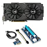 ASUS ROG Strix Radeon Bundle 2 Items: RX 570 O4G Gaming OC Edition GDDR5 DP HDMI DVI VR Ready AMD Graphics Card (ROG-STRIX-RX570-O4G-GAMING) and RIser