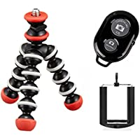 Joby Mini Magnetic Pocket-Sized Tripod for Compact Cameras, Action Cameras and Ivation Wireless Bluetooth Selfie Shutter Remote Control for Apple and Android Phones and Universal Mount for Smartphones