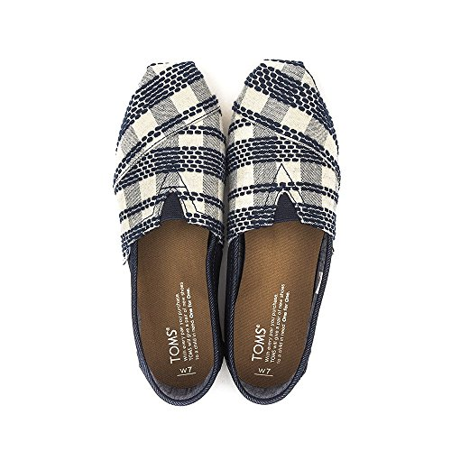 talla 5 Zapatos Woven 38 1019B09R para mujer color Sole negro Rope Toms Navy pUqvnR8x