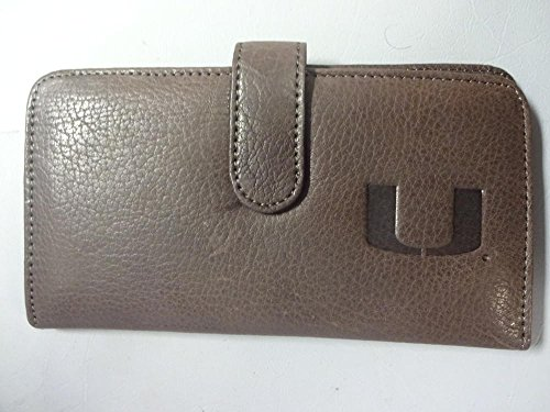 MIAMI HURRICANE BROWN LEATHER PUSE/WALLET