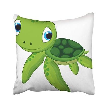 Amazon Com Custom Green Cute Baby Sea Turtle Cartoon Animal Shell
