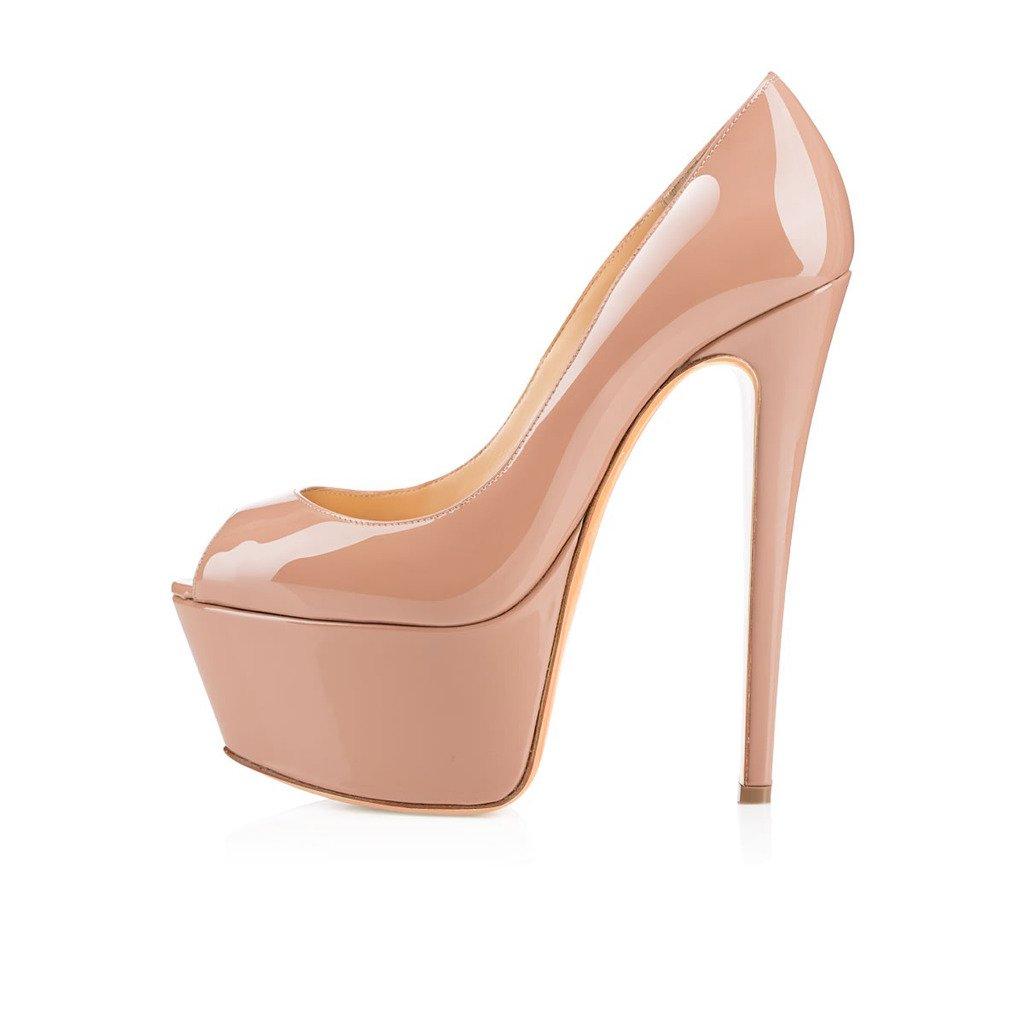 Kolnoo - Zapatos con tacón Mujer 41 EU|Beige