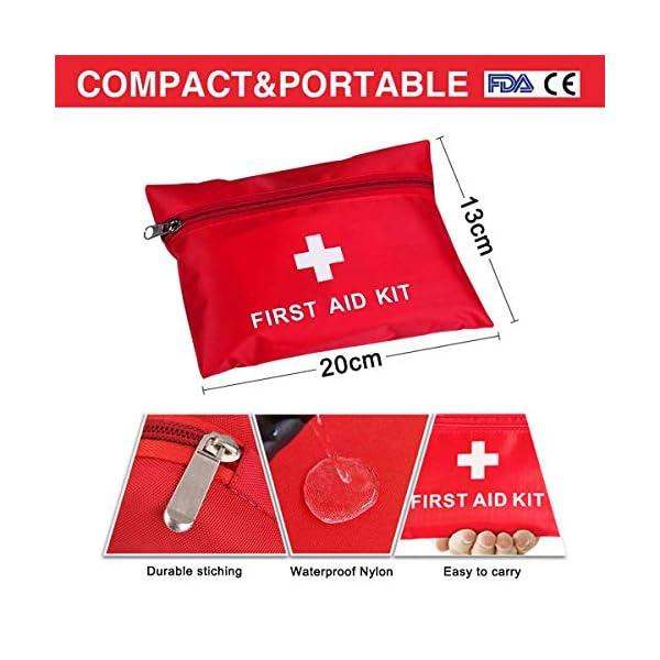 Th-some JAANY Botiquín de Primeros Auxilios de artículos, Survival Tools Mini Box Kit Bolsa Médica para Emergencias para… 1