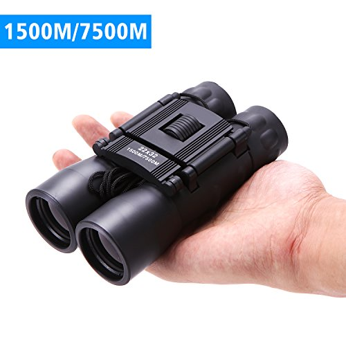 22X32 Folding Binoculars Low Light Night Vision, Powered Magnification Professional Bird Watching Binoculars telescope , Easy to Carry (Upgraded Version)