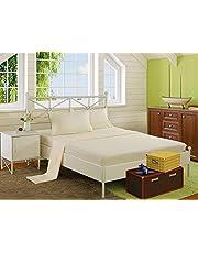 ملاية سرير بأستك 120×200 سم مع كيس خدادية 50×70 سم من سنوز، اوف وايت
