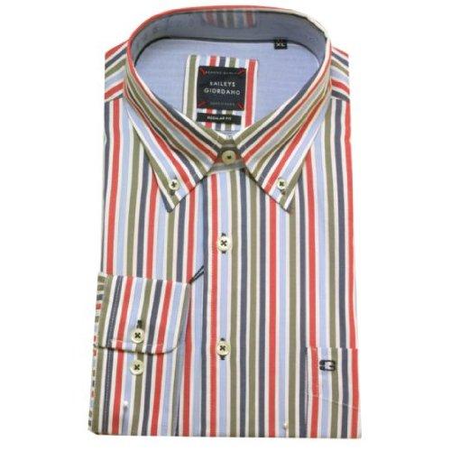 Baileys Giordano -  Camicia Casual  - A righe - Con bottoni  - Uomo