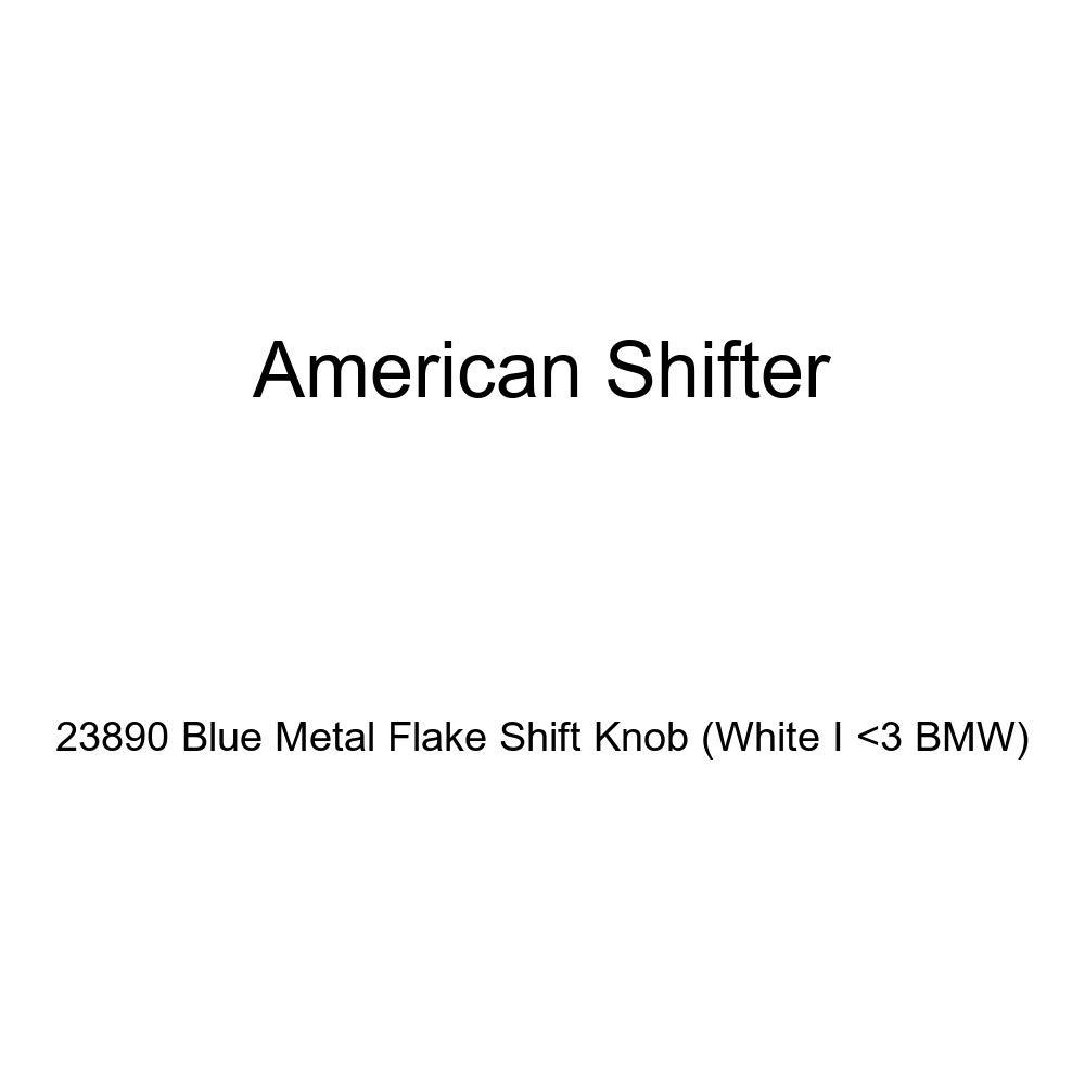 White I 3 BMW American Shifter 23890 Blue Metal Flake Shift Knob