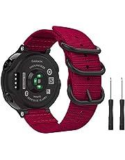MoKo Watch Band Compatible with Garmin Forerunner 235, Fine Woven Nylon Adjustable Replacement Strap fit Garmin Forerunner 235/235 Lite / 220/230 / 620/630 / 735XT