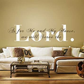 Monogram Wall Decal Vinyl Wall Quote Bible Verse Decal Religious Wall  Sticker Wall Phrase Wall Words Design Inspirations