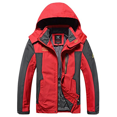 Modern Fantasy Mens RMK SOAP Bar Breathable Waterproof Outdoor Sport Jacket Size US Red - Australian Designers List