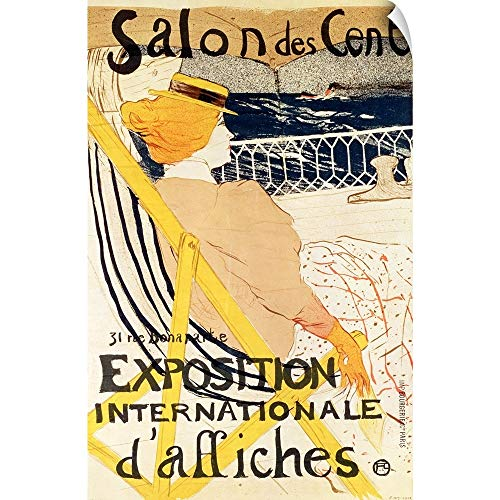 (CANVAS ON DEMAND Poster Advertising The Exposition Internationale dAffiches, Paris, c.1896 Wall Peel Art Print.)