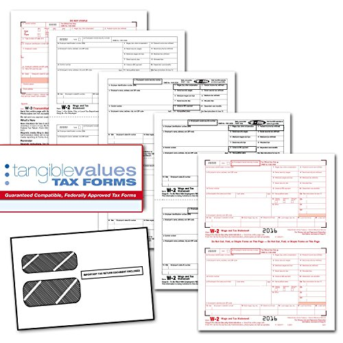Free Tangible Values W-2 Laser Forms