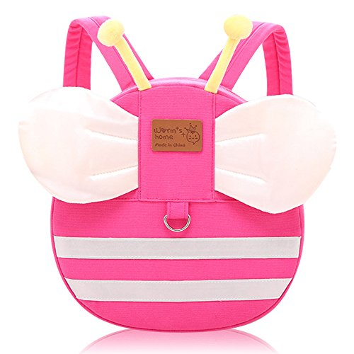 Vox Baby Girl Backpack Cute Cartoon Backpack Leash for Toddlers Little Kids Backpack Preschool Bag with Chest Strap, Pink