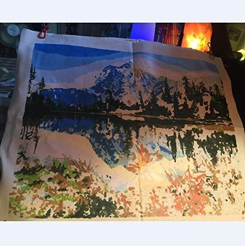 Kit de pintura por n/úmeros para adultos y ni/ños de TOCARE Traquil Mountain Lake 16 x 20 pulgadas