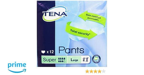 Tena - Pants Super - Bragas absorbentes - Talla L - 12 unidades: Amazon.es: Alimentación y bebidas