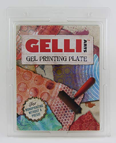 GEL PRINTING PLATE by Gelli Arts  print amazing pictures to show off to your friends, 8x10 inches square from Gelli Arts