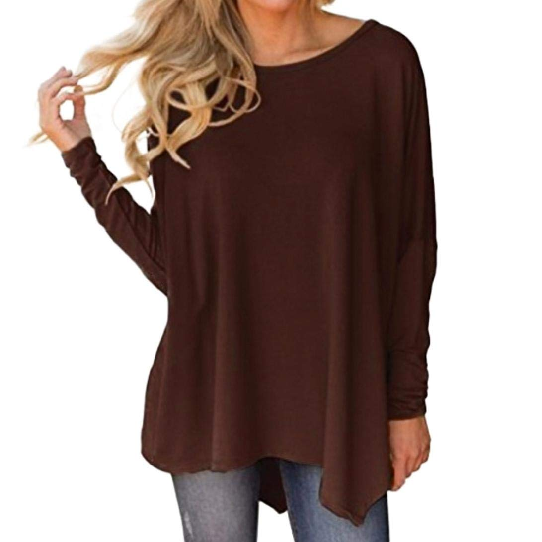 Mujer Casual Camiseta poliéster Tops Blusa, Moda Casual ...