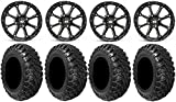 Bundle - 9 Items: STI HD4 15'' Wheels Black 30'' Kanati Mongrel Tires [4x156 Bolt Pattern 12mmx1.5 Lug Kit]