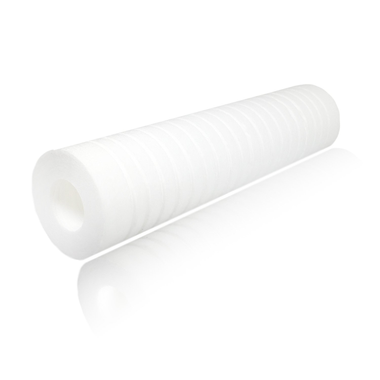 CFS110 25-Pack Aquaboon 5 Micron 10 x 2.5 Grooved Sediment Water Filter Replacement Cartridge for Any 10 inch RO Unit AP110 RS14 Whole House Sediment Filtration WFPFC5002 Compatible with P5