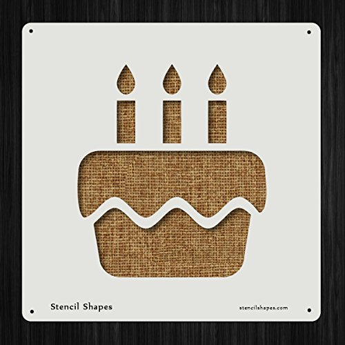 Birthday Cake Baking Candle Dessert Style 10856 DIY Plastic Stencil Acrylic Mylar Reusable by StencilShapes