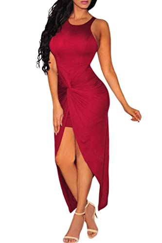 Dearlovers Women Knotted Front Slit Cocktail Dress