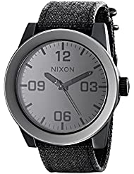 NIXON Mens Corporal Series Analog Quartz Watch / Leather or Canvas Band / 100 M Water Resistant and Solid Stainless...