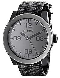 Nixon Men's NXA2431062 Classic Analog Stainless Steel Grey Dial Watch