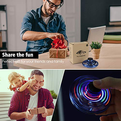 FlyNova Flying Spinner, Hand Operated UFO Drones for Kids or Adults - Flying Toy with 360° Rotating and Shinning LED Light(3pcs)