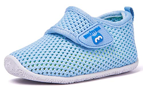BMCiTYBM Baby Sneakers Girl Boy Tennis Shoes First Walker Shoes 12-18 Months Blue (Girl Shoe Size To Boy Shoe Size)