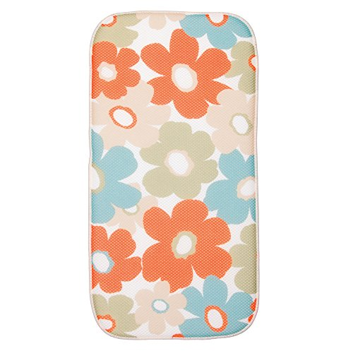 "InterDesign 40730 iDry Floral Mini 18"" x 9"" Kitchen Mat"