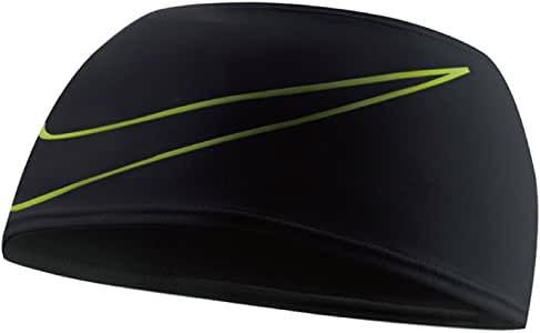 Nike Dri-Fit Swoosh - Diadema para Correr, Color Negro