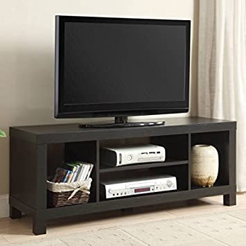 Small Spaces TV Stand for TVs Black Oak