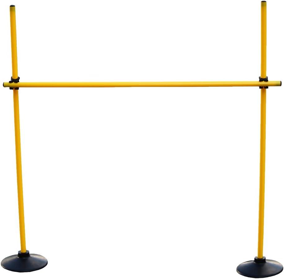 Boje Sport Valla de Salto: (3 Picas 100cm, 2 Bases de Caucho, 2 Clips de conexión) Color Amarillo