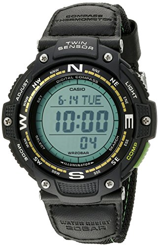 (Casio Men's SGW-100B-3A2CF Twin Sensor Digital Display Quartz Black Watch)