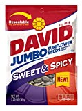DAVID Roasted and Salted Sweet and Spicy Jumbo Sunflower Seeds, 5.25 oz, 12 Pack