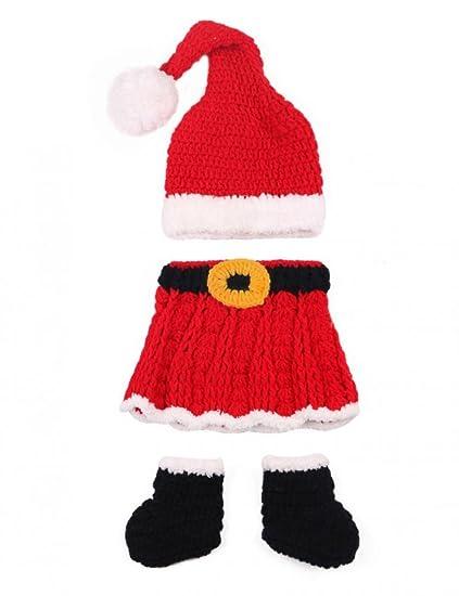 Bei wang lindo Navidad estilo bebé bebé recién nacido Gorro de punto hecho a mano ropa