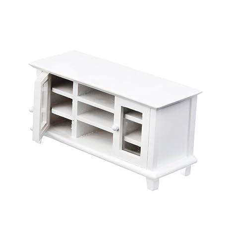 meuble tv armoire de tlvision miniature en bois pour 112 maison de poupe