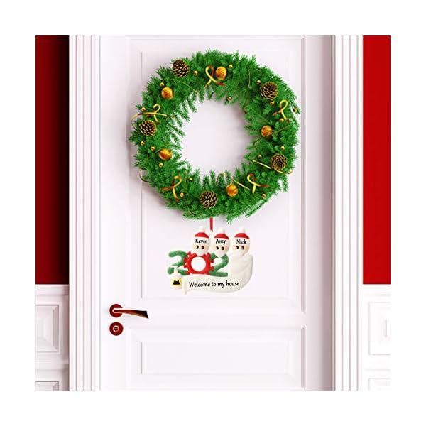 Hbsite Ornamento di Natale Ciondoli di Natale 2020 Quarantena Personalizzata Famiglia Ornamenti per L'Albero di Natale Decorazione Sopravvissuto Regalo Creativo Personalizzato (Famiglia di 3 Persone) 5 spesavip