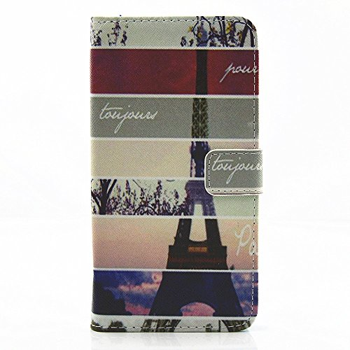 Defunct Eiffel Tower Faux Leather Case for iPhone 7