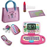 LeapFrog My Own Leaptop, Pink,Pretend Play Princess Set for Girls with Handbag, Flip Phone, Light Up Remote with Keys, Play Lipstick & Kids Credit Card,Great Educational Toy for Fun & Learning