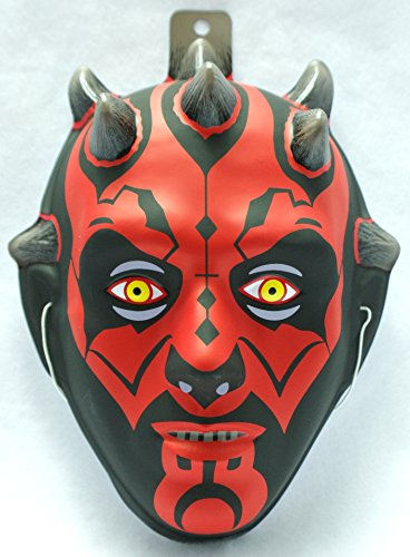 (Darth Maul PVC Mask Kid Size Rubies Halloween Dress Up Star)