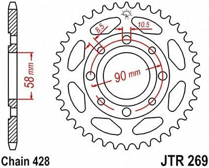 JT JTR269.43 Steel Rear Sprocket 43T