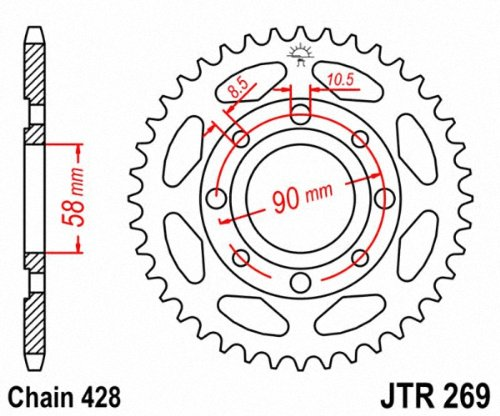 JT Sprockets JTR269.34 34T Steel Rear Sprocket