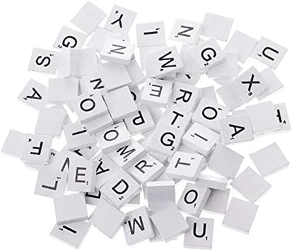 Reeseiy 100 Trozo De Madera Alfabeto Chic Bloque Alfabeto Cuadrado Scrabble Alfabeto Duradera con El Arte Blanco Y Suministros Útiles De Oficina De Venta De Productos De Uso Diario: Amazon.es: Electrónica