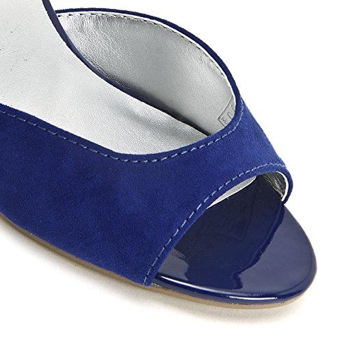 PRENDIMI by Scarpe&Scarpe - Sandalias altas con correa en el tobillo, con Tacones 9 cm Azul
