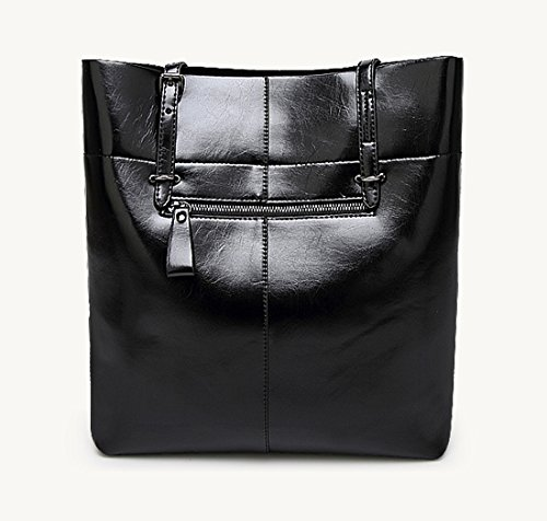 beginning Style Bag Black Single Women Tote Color Shoulder Auspicious Simple Solid dPn6qFzwO